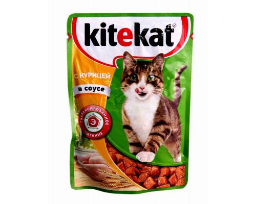 Корм Kitekat д/кошек курица в соусе 85г пауч