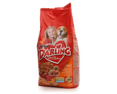 Корм сухой для взрослых собак с курицей и добавлением овощей ТМ Darling (Дарлинг)