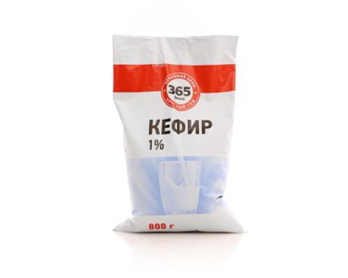 Кефир ТМ 365 дней, 1%, 800 г