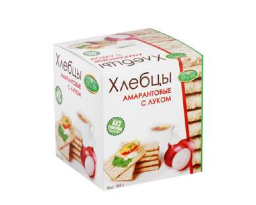 Хлебцы амарантовые с луком ТМ Di&Di (Ди энд Ди)