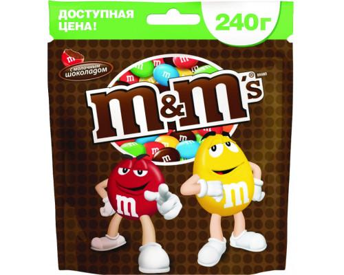 Драже ТМ M&M`s (ЭмэндЭмс) молочный шоколад, 240 г