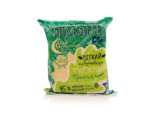 Сыр Тильзитер легкий нежный пряный 45% ТМ Сыр Стародубский