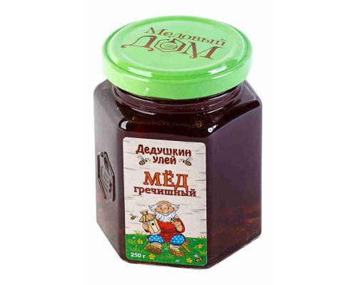 Мед Дедушкин Улей гречишный, 250г ст/б
