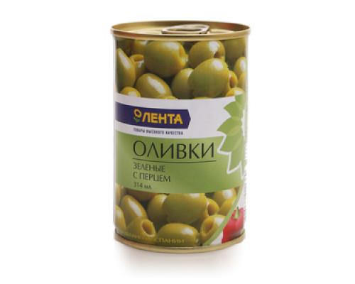 Оливки с перцем ТМ Лента