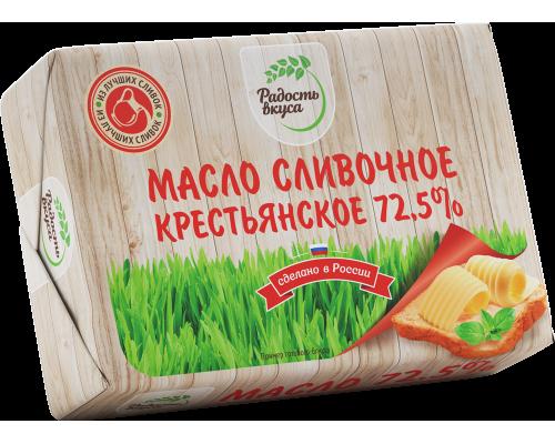 Сливочное масло Крестьянское ТМ Радость вкуса, 72,5%, 180 г