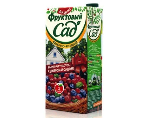 Напиток яблочно-ягодный ТМ Фруктовый сад