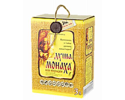 Вино Душа Монаха бел п/сл алк.10-12% 3л