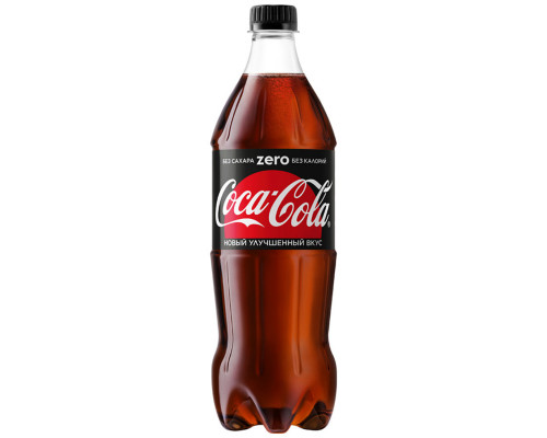 Напиток ТМ Coca-Cola (Кока-Кола) Zero, сильногазированный, 0,9 л