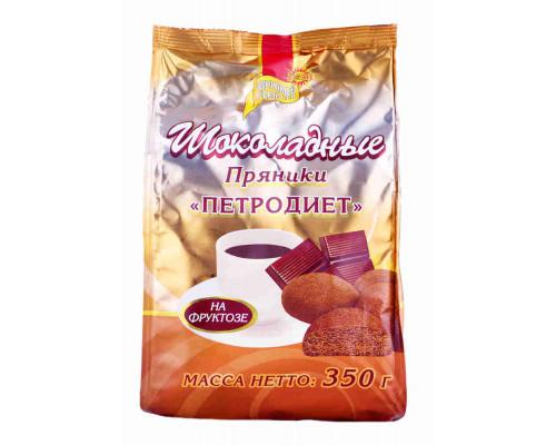 Пряники Петродиет шоколадные на фруктозе 350г