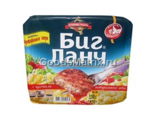 Картофельное пюре ТМ Биг Ланч с кусочками куриного филе, 110 г