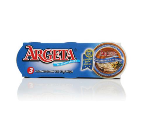 Тунец: паштет из тунца 3*95 г TM Argeta (Аргета)