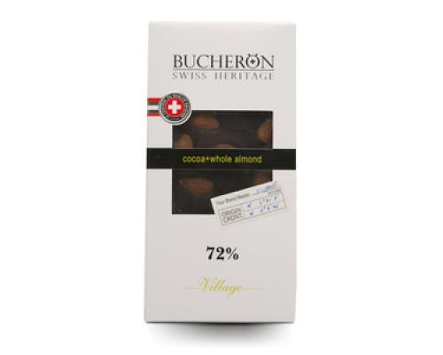 Шоколад горький с миндалем ТМ Bucheron (Бушерон), 100 г