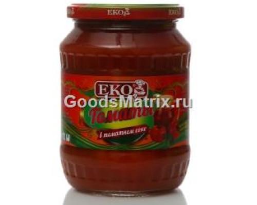 Томаты ТМ Eko (Эко), неочищенные, в томатном соке, 680 г