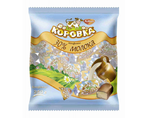 Конфеты  Коровка 30% молока 250г Рот Фронт