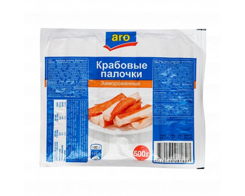 Крабовые палочки ТМ Aro (Аро), замороженные, 500 г