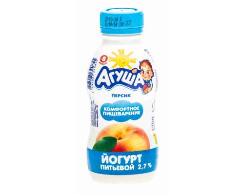Йогурт питьевой Агуша персик 2,7% 200г