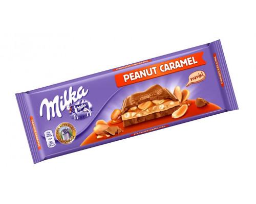 Шоколад молочный ТМ Milka (Милка) Арахис с карамелью, 276 г