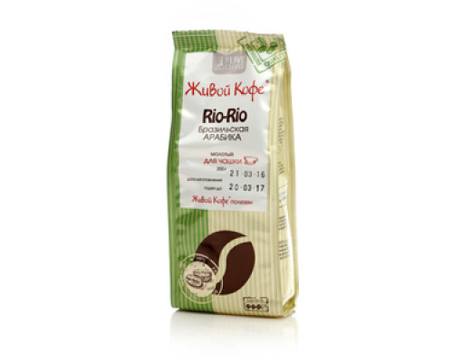 Кофе натуральный жареный молотый Rio-Rio ТМ Живой кофе