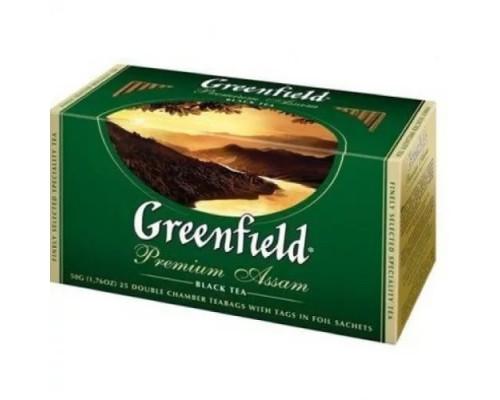 Чай черный ТМ Greenfield (Гринфилд) Premium Assam, 25х2 г