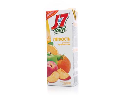 Нектар из апельсинов, яблок и персиков с мякотью ТМ J7 (Джей севен)