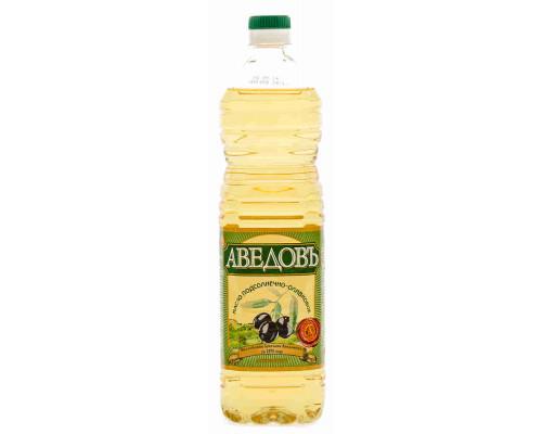 Масло подсолнечно-оливковое Аведовъ 1л