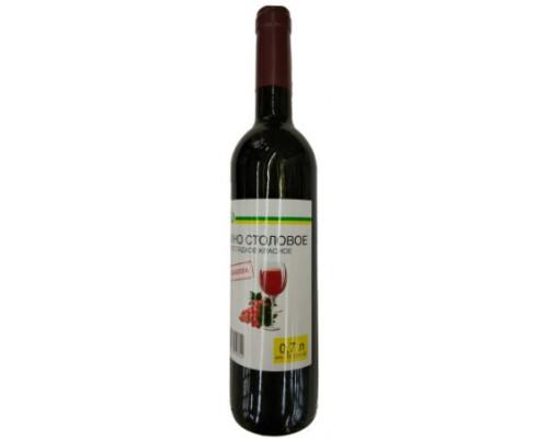 Вино столовое полусладкое красное Изабелла Каждый день, 10-12 %, 0,7 л