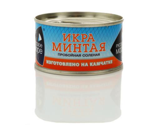 Икра минтая ТМ Русское море, пробойная соленая 130 г