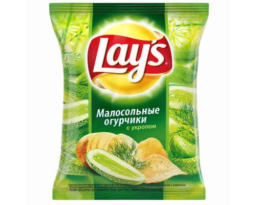 Чипсы ТМ Lay`s (Лэйс), малосольные огурчики/укроп 80 г