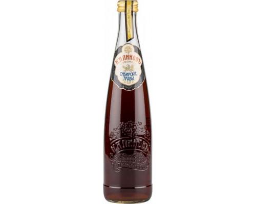 Напиток ТМ Калиновъ лимонад Сибирские травы, сильногазированный, 0,5 л