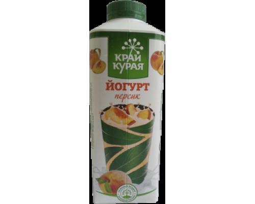 Йогурт ТМ Край Курая, персик, 1,5%, 750 г
