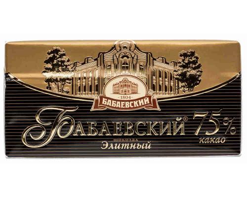 Шоколад ТМ Бабаевский, Элитный 75% какао 100 г
