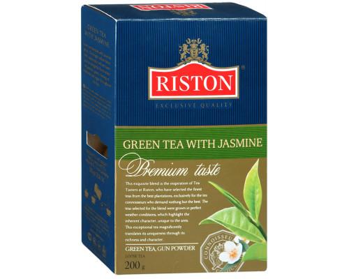 Чай ТМ Riston (Ристон) с жасмином, зеленый, листовой, 200 г