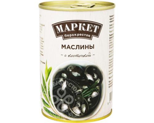 Маслины ТМ Маркет Перекресток, с косточкой, 400 г