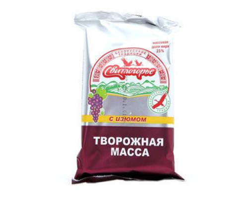 Ммасса творожная ТМ Свитлогорье, изюм, 23%, 180 г