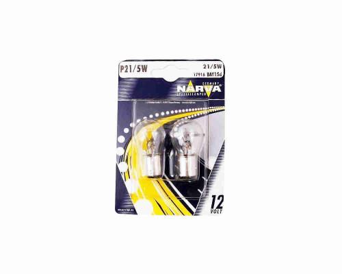 Лампы P21/5W 12V BAY15d (17916) NARVA блистер (2шт.) NAR-17916-B2