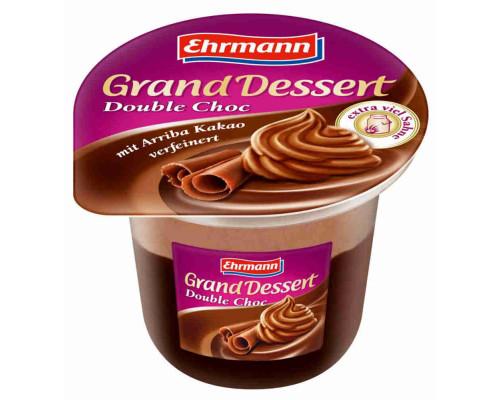 Пудинг Ehrmann Grand Dessert со взбитыми сливками двойной шоколад 4,7% 200г