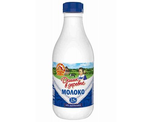 Молоко пастеризованное Домик в деревне 2,5% 1400мл пэт