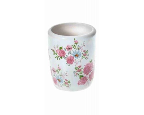 Стакан д/ванной Fresh Code Флора керамика 350мл арт24/6/70074