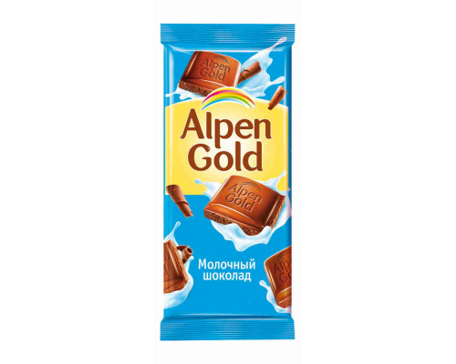 Шоколад ТМ Alpen Gold, молочный 90 г