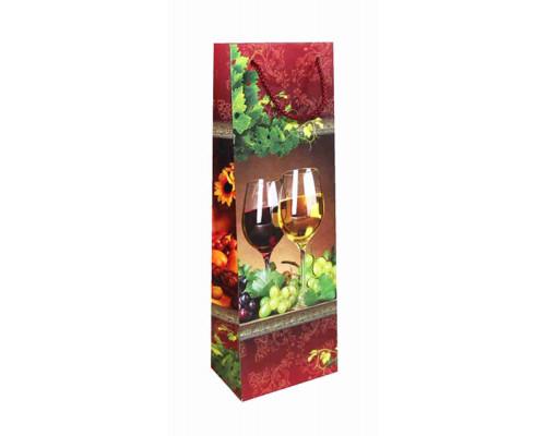Пакет 36,2*12,3*7,8  декоративный ламинат под бутылку Артикул СБ16