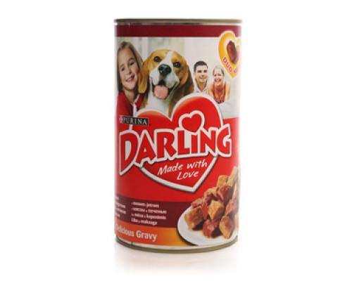 Корм консервированный для взрослых собак с мясом и печенью ТМ Darling (Дарлинг)