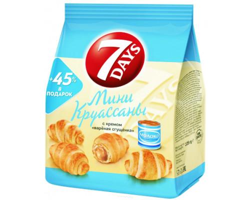Мини-круассаны ТМ 7 Days (7 Дней) с кремом Вареная сгущенка, 300 г