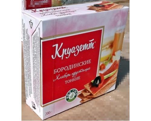 Хлебцы тонкие Круазетт Бородинские, 200 г
