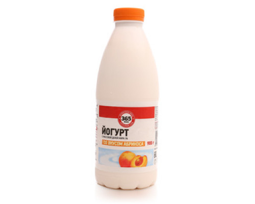 Йогурт ТМ 365 дней со вкусом абрикоса 1% 0,9 кг