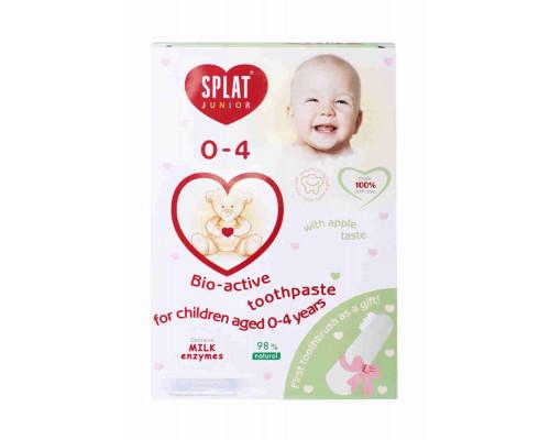 Зубная паста д/детей SPLAT JUNIOR яблоко от 0 до 4 лет + зубная щетка дет в подарок, PROMO