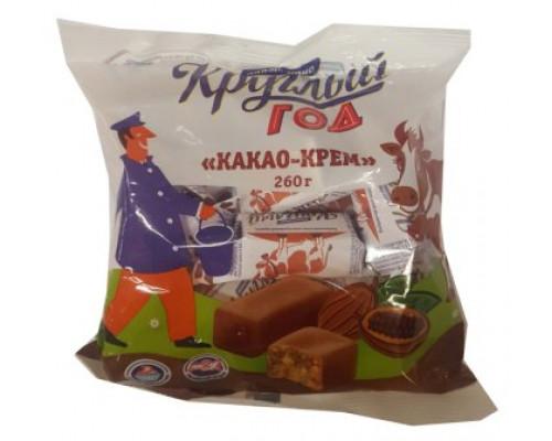 Конфеты Круглый год Аппетитно алек. коровка, какао-крем, 260 г