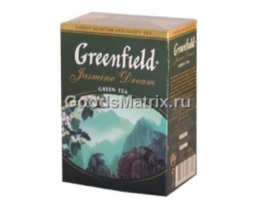 Чай зеленый ТМ Greenfield (Гринфилд), GASMINE DREAM жасмин байховый китайский ароматизированный, 100 г