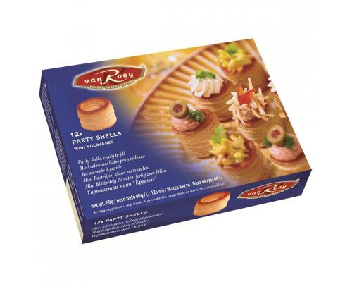 Тарталетки мини Круглые ТМ Van Rooy (Ван Роой) Party Shells Mini, 60 г
