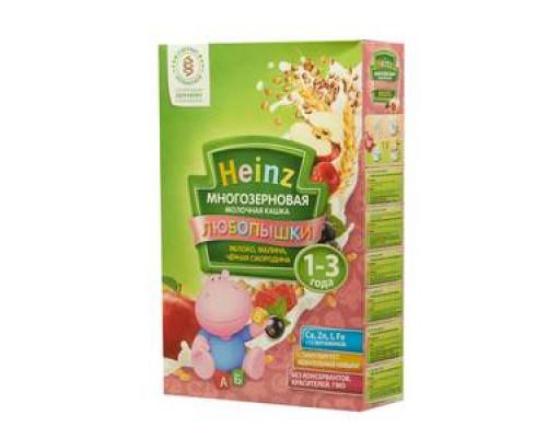 Каша Любопышки многозерновая фруктово-молочная яблоко-малина-черная смородина  ТМ Heinz (Хайнц)