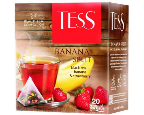 Чай черный ТМ Tess (Тесс) Banana Split, 20 пирамидок